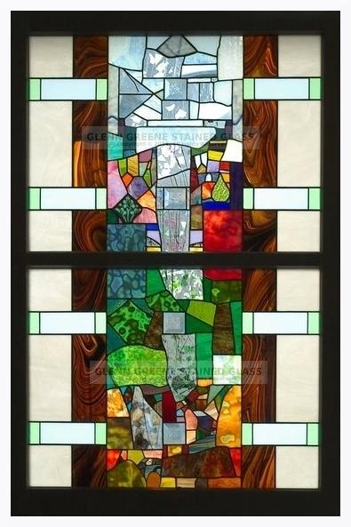 Art glass window created by Glenn Greene