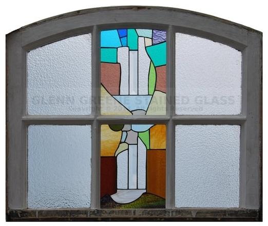 Stained glass window created by Glenn Greene